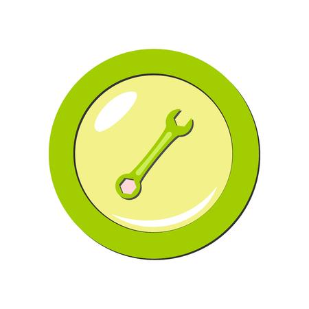 Wrench icon. Vector Illustration Illustration