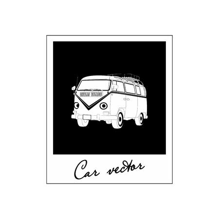 Bus icon. Vector Illustration Illustration