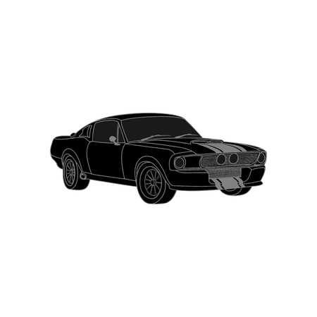 Car icon. Vector Illustration. Black color