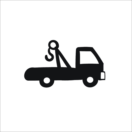 Evacuator icon. Vector Illustration