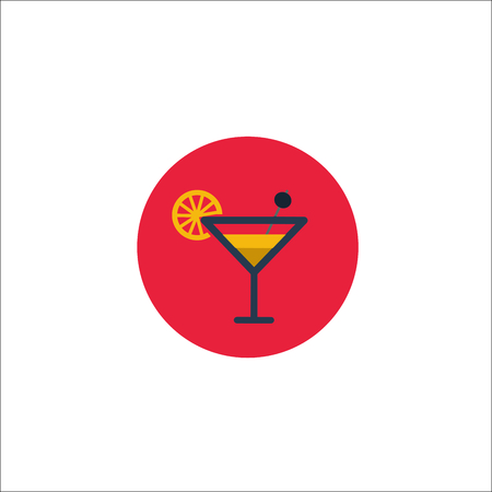 Glass of Cocktail icon 向量圖像