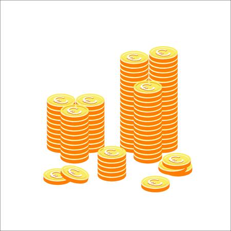 Money. Evro icon. Vector Illustration