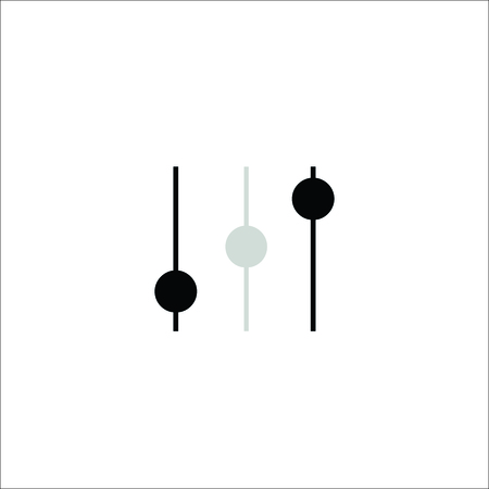 Volume vector. Music equalizer Stock Illustratie