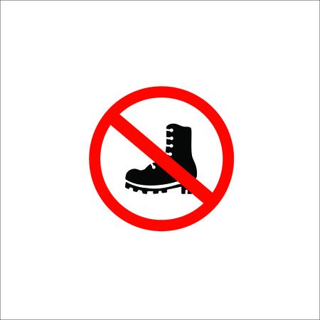 forbidden shoes sign. Vector Illustration Stock Illustratie