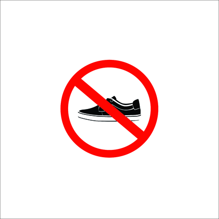 forbidden shoes sign. Vector Illustration Stock Illustratie