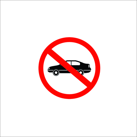 No parking no car sign. Vector Illustration