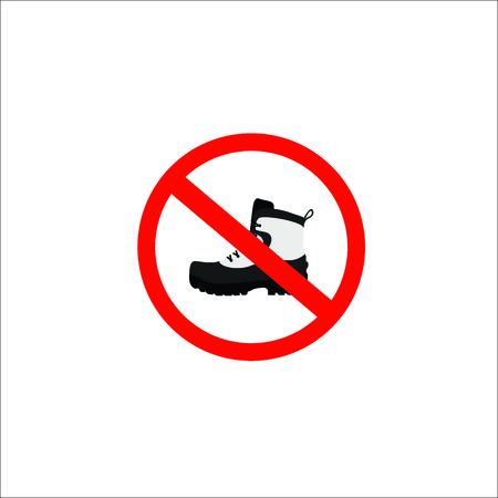 forbidden shoes sign. Vector Illustration 일러스트