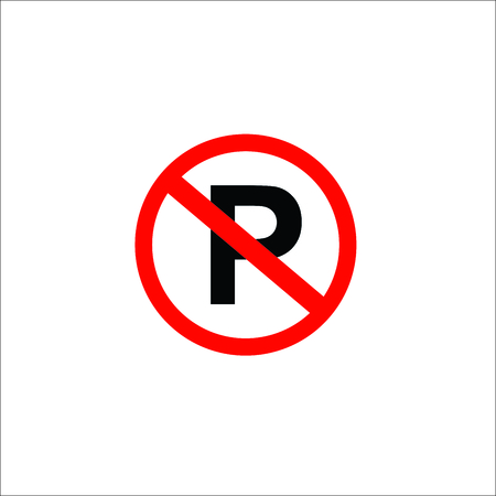 No parking sign. Vector Illustration
