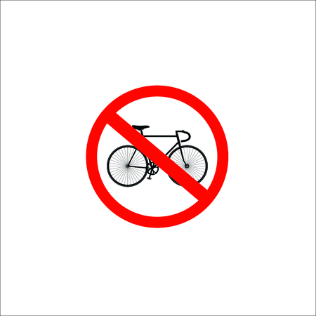 No bicycle sign. Vector Illustration  イラスト・ベクター素材
