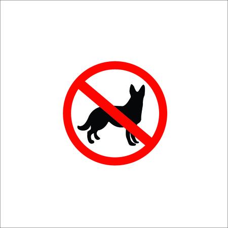 No dog sign. Vector Illustration Banque d'images - 100971313