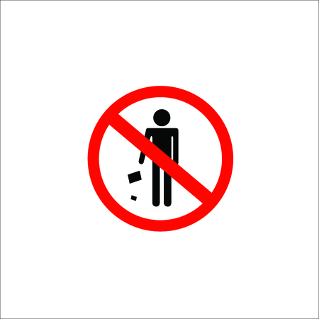 No Littering Sign Vector Illustration Royalty Free Cliparts