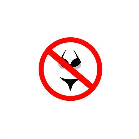 No bikini sign. Vector Illustration Stock Illustratie