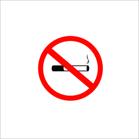 No smoking cigarette. Vector Illustration