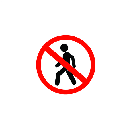 Do not entry sign. Vector Illustration Ilustração