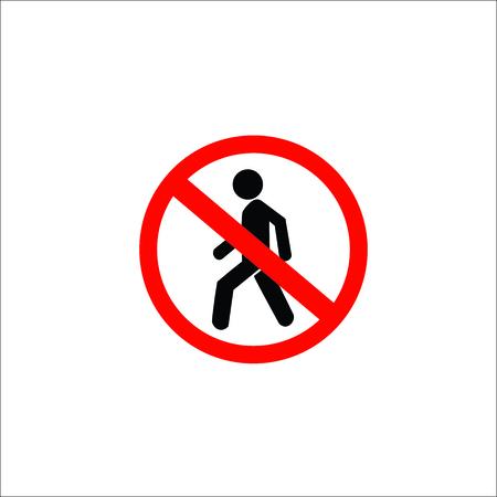 Do not entry sign. Vector Illustration Illustration