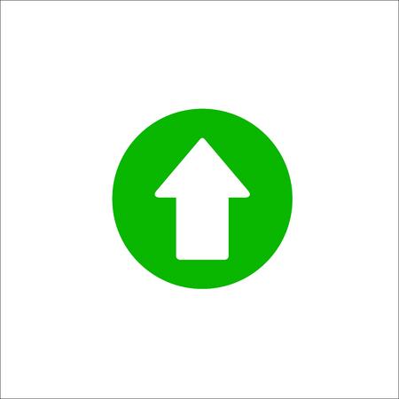 Up arrow sign. Vector Illustration Stock Illustratie