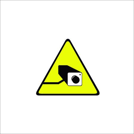 Video surveillance sign. Vector Illustration