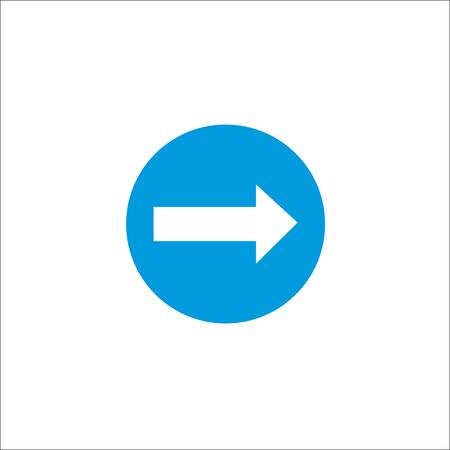 Road sign. Right arrow. Vector Illustration Stock Illustratie