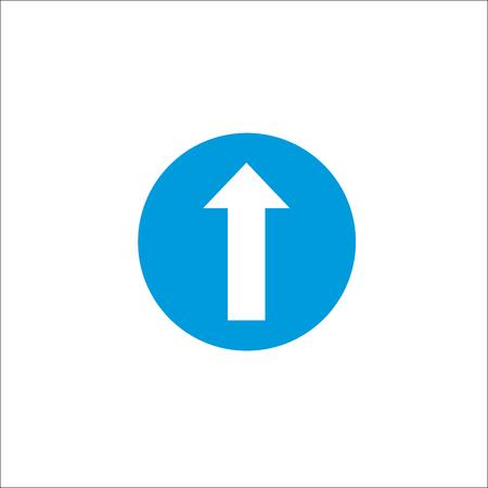 Road sign. Straight arrow 向量圖像