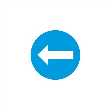 Road sign. Left arrow