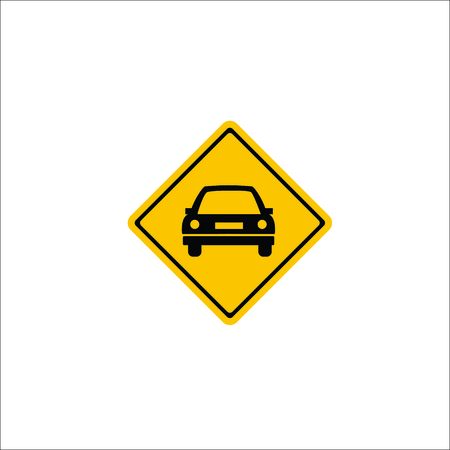 Road sign. Car warning icon Stock Vector - 102093652