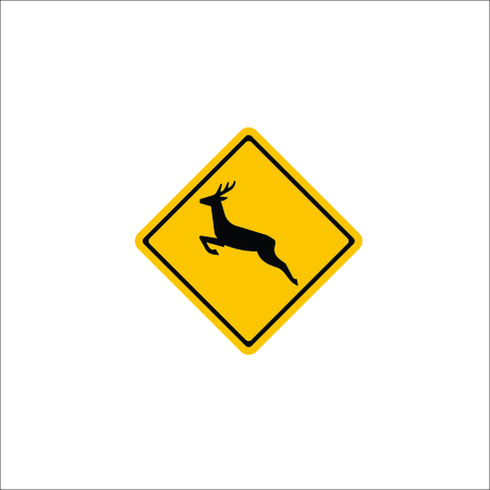 Road sign. Deer icon