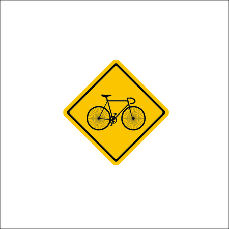 Road sign. Bicycle icon