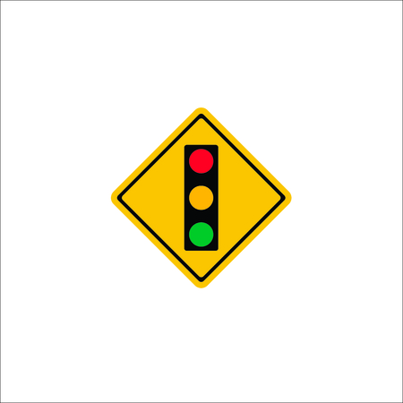 Road sign. Traffic light icon