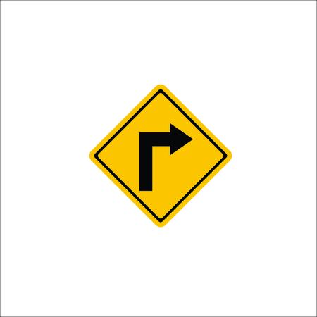 Road sign. Right arrow icon. Vector Illustration Illustration