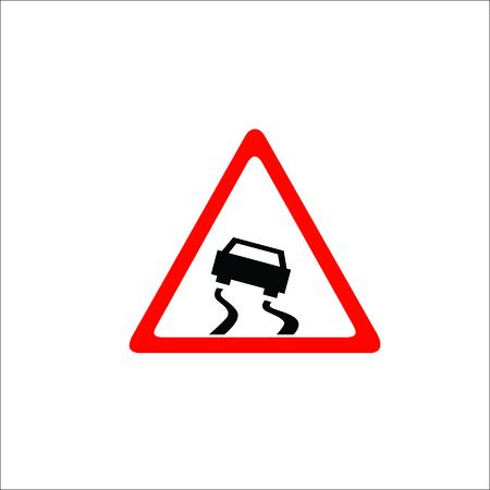 Road sign. Hazard icon