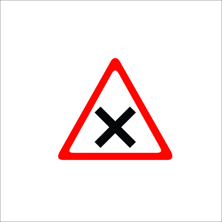 Road sign. Hazard icon
