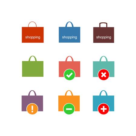 Shopping bag icon. Vector Illustration 版權商用圖片 - 102093576