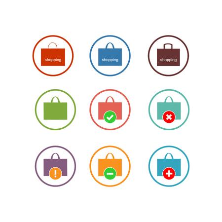 Shopping bag icon. Vector Illustration