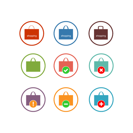 Shopping bag icon. Vector Illustration