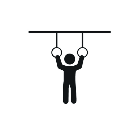 Athlete icon. Vector Illustration Illustration