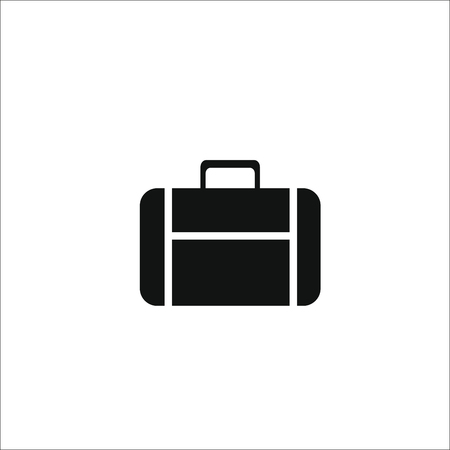 Suitcase bag icon. Vector illustration
