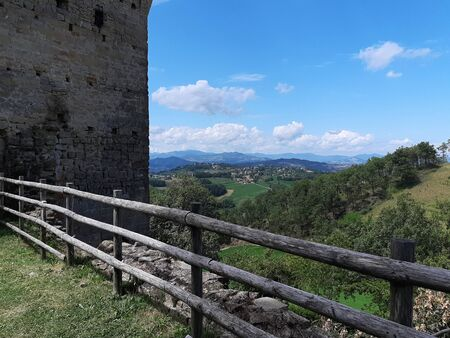 From the castle of Sarzano seen on the hill that surround the horizon