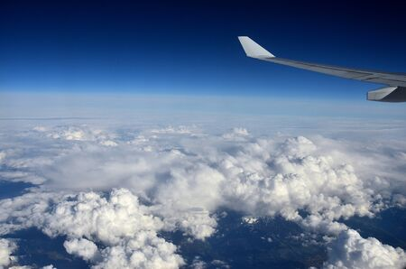 Flyingon the clouds in a blue sky is always an unforgettable experience