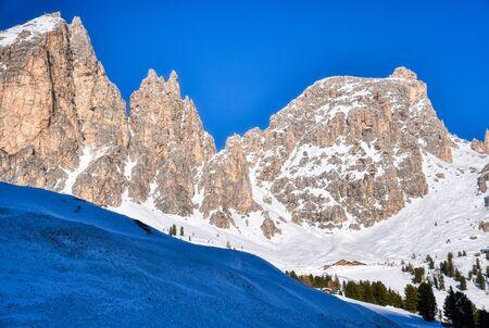 At Passo Gardena the Cir group dominates the ski area