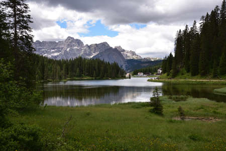 Upper part of Lake Misurina, reachable on foot with the path that runs along the lake