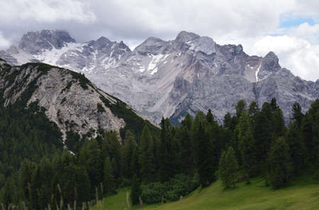 The Croda Scabra, a mountain group 2181 meters high located at the beginning of the Prato Piazza plateau