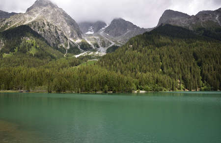 Lake Anterselva on a summer afternoon