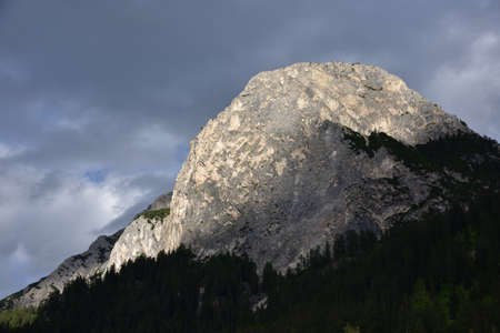 Monte Lungo, 2282 meters high, in the last light of the day Stock Photo