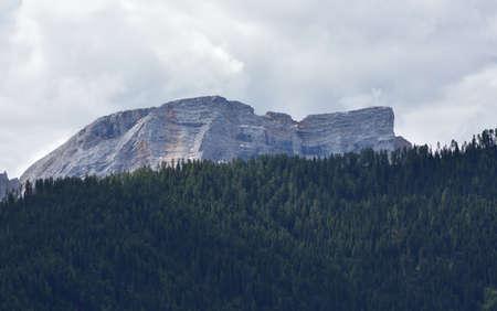 Croda del Becco massif, the mountain that overlooks Lake Braies