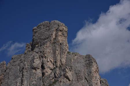 The massive rocky tower of Ra Gusela, 2593 meters high