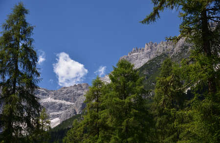 Peaks towards Punta Tre Scarperi in Val Fiscalina