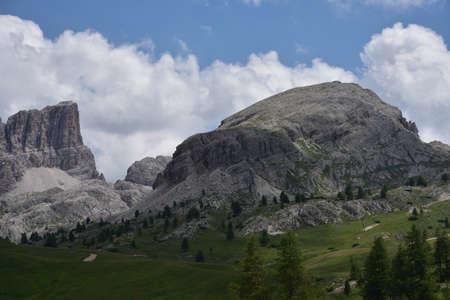 Monte Averau and Col Gallina from Passo Falzarego
