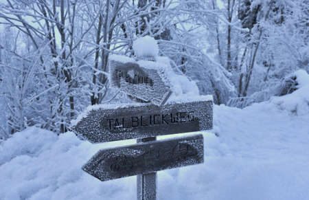 Appropriate information for those who love hiking in winter Stock Photo