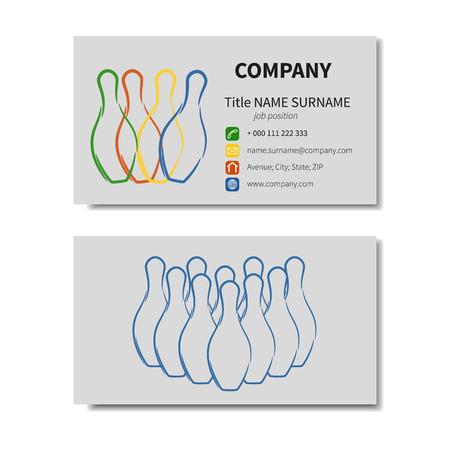quilles: Stylis� carte d'affaires moderne avec quilles (pleine de vecteur)