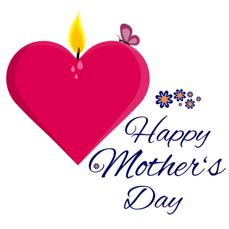 paraffin: Fully vector Happy mothers day card